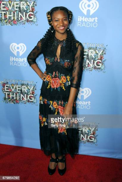 Actress Reiya Downs attends screening of Warner Bros Pictures' 'Everything Everything' at TCL Chinese Theatre on May 6 2017 in Hollywood California