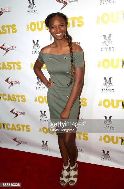 Actress Reiya Downs attends the premiere of Swen Group's 'The Outcasts' at Landmark Regent on April 13 2017 in Los Angeles California