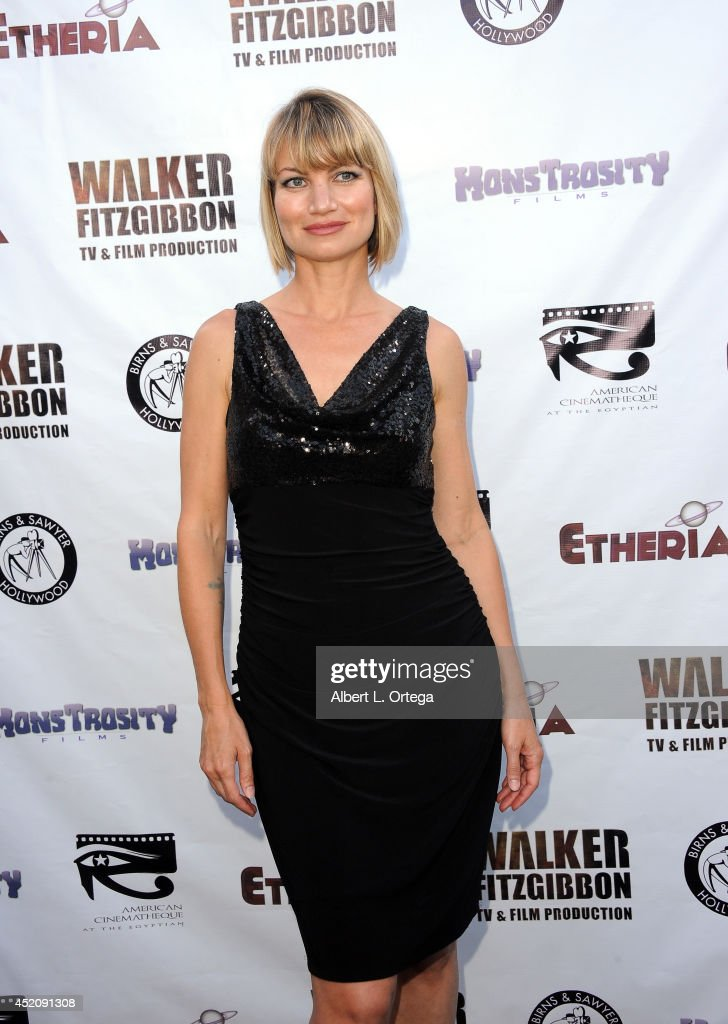 Actress <a gi-track='captionPersonalityLinkClicked' href=/galleries/search?phrase=Rena+Riffel&family=editorial&specificpeople=2205013 ng-click='$event.stopPropagation()'>Rena Riffel</a> arrives for the 2014 Etheria Film Night held at American Cinematheque's Egyptian Theatre on July 12, 2014 in Hollywood, California.