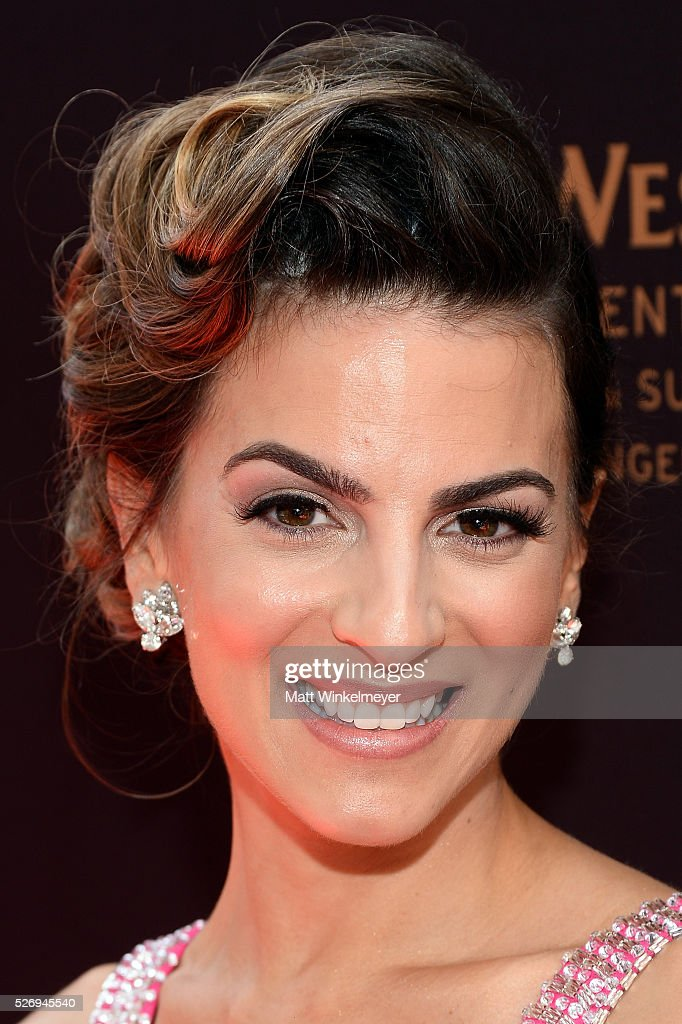 Actress Ren��e Marino walks the red carpet at the 43rd Annual Daytime Emmy Awards at the Westin Bonaventure Hotel on May 1, 2016 in Los Angeles, California.