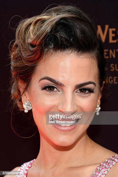 Actress Ren��e Marino walks the red carpet at the 43rd Annual Daytime Emmy Awards at the Westin Bonaventure Hotel on May 1 2016 in Los Angeles...