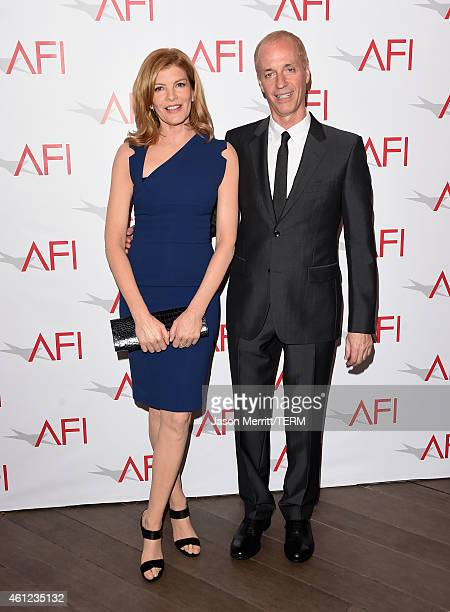 Actress Rene Russo and filmmaker Dan Gilroy attend the 15th Annual AFI Awards at Four Seasons Hotel Los Angeles at Beverly Hills on January 9 2015 in...