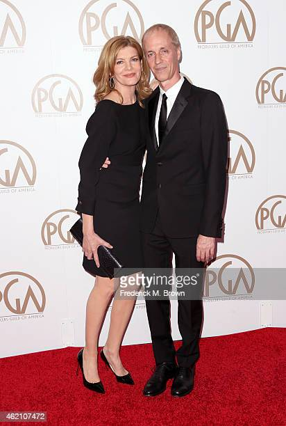 Actress Rene Russo and writer/director Dan Gilroy attend the 26th Annual Producers Guild Of America Awards at the Hyatt Regency Century Plaza on...