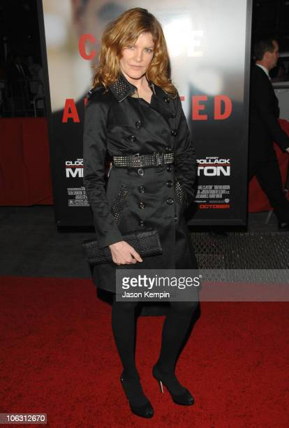 Actress Rene Russo arrives at the premiere of 'Michael Clayton' at the Ziegfeld Theater on September 24 2007 in New York City