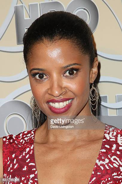 Actress Renee Elise Goldsberry arrives at HBO's Official Golden Globe Awards after party at the Circa 55 Restaurant on January 8 2017 in Los Angeles...