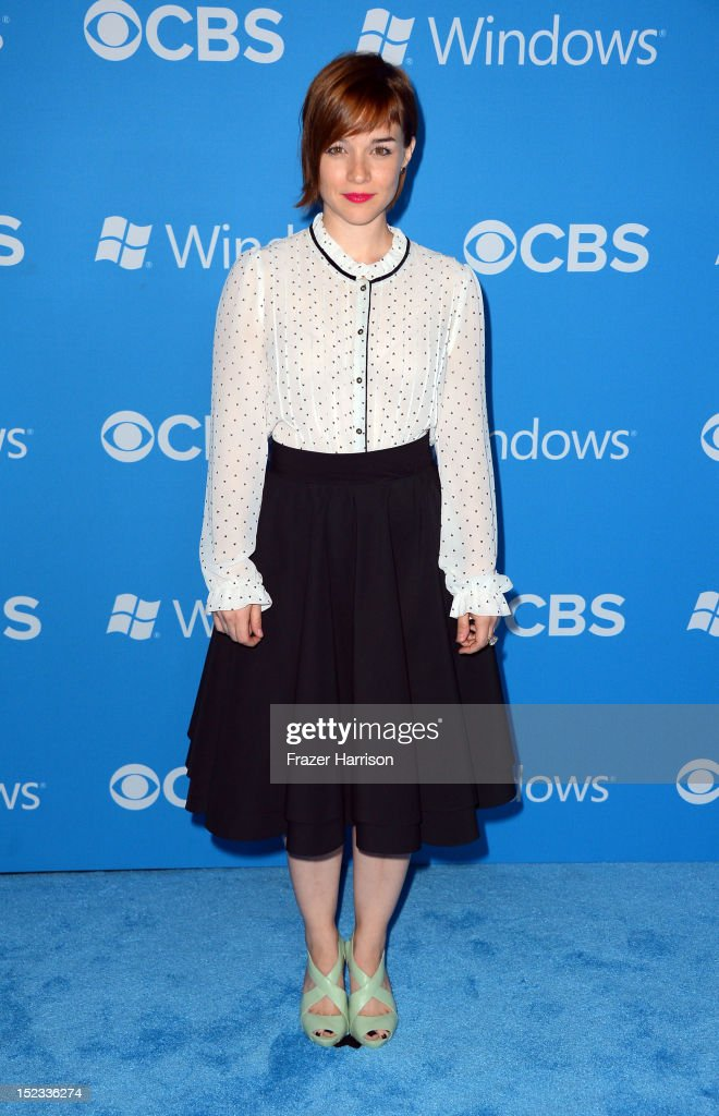 Actress Renee Felice Smith arrives at CBS 2012 fall premiere party held at Greystone Manor Supperclub on September 18, 2012 in West Hollywood, California.