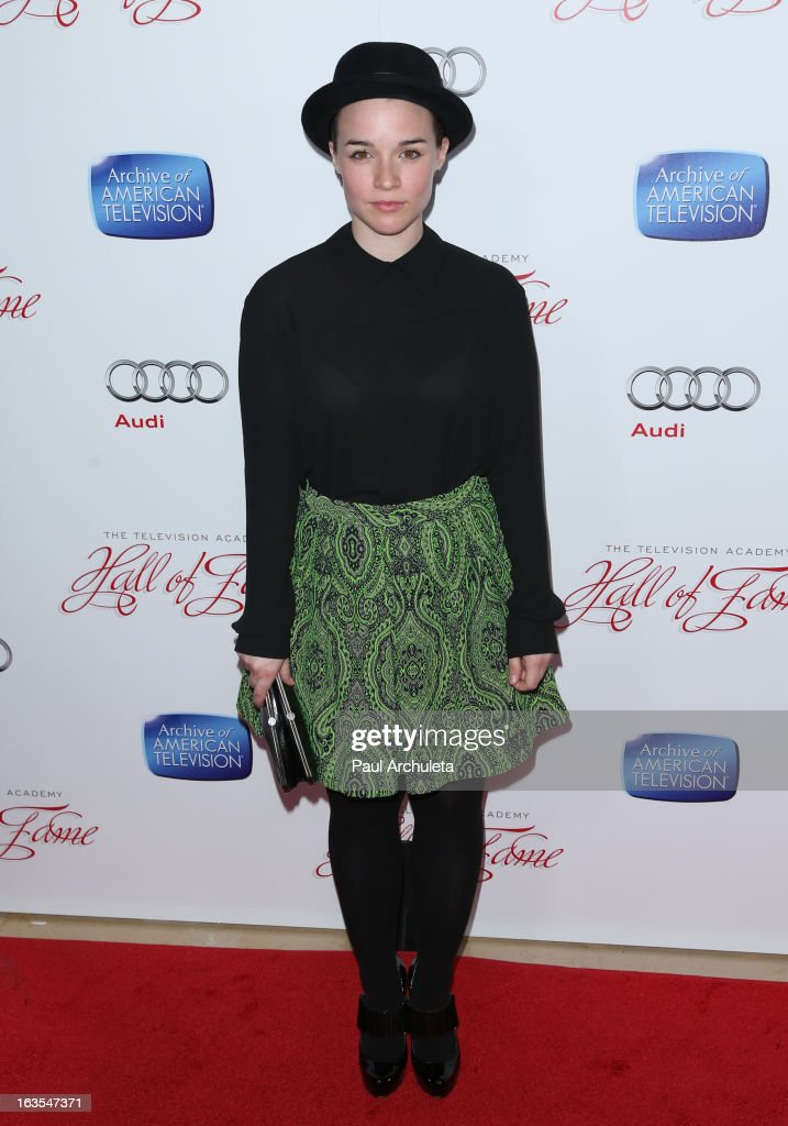 Actress Renee Felice Smith attends the Academy Of Television Arts & Sciences 22nd annual Hall Of Fame induction gala at The Beverly Hilton Hotel on March 11, 2013 in Beverly Hills, California.