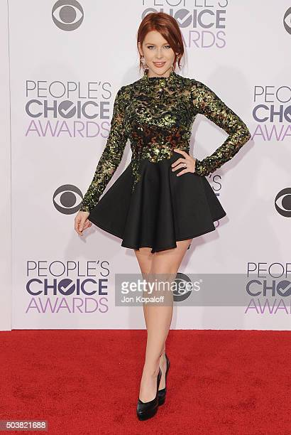 Actress Renee Olstead arrives at People's Choice Awards 2016 at Microsoft Theater on January 6 2016 in Los Angeles California