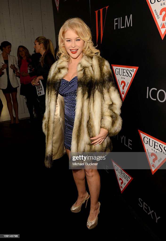 Actress Renee Olstead attends '30 Years Of Fashion And Film And The Next Generation Of Style Icons' with W Magazine and GUESS at Laurel Hardware on January 8, 2013 in West Hollywood, California.