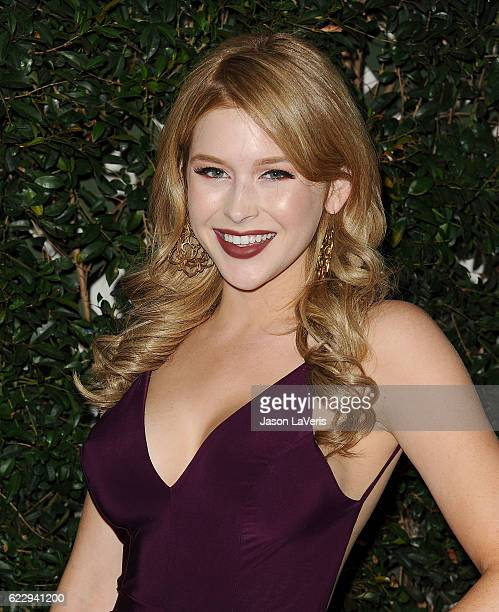 Actress Renee Olstead attends Farm Sanctuary's 30th anniversary gala at the Beverly Wilshire Four Seasons Hotel on November 12 2016 in Beverly Hills...