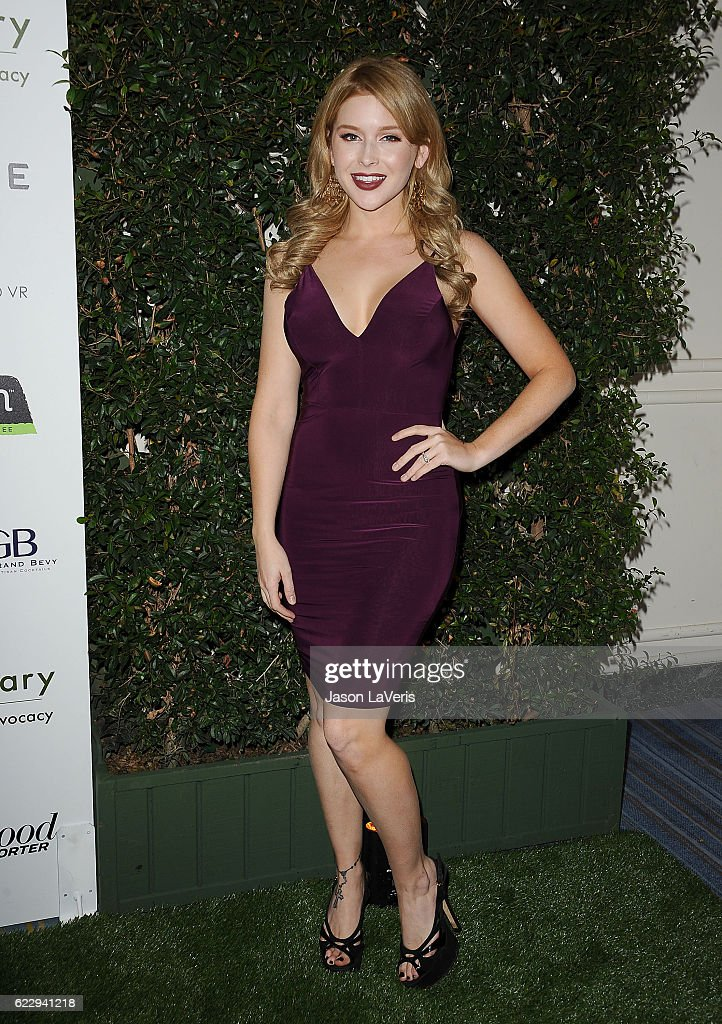 Actress Renee Olstead attends Farm Sanctuary's 30th anniversary gala at the Beverly Wilshire Four Seasons Hotel on November 12, 2016 in Beverly Hills, California.
