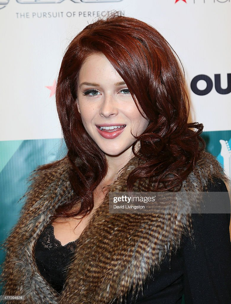 Actress Renee Olstead attends Out Magazine's Rock OUT event to kick off Los Angeles Fashion Week at Siren Studios on March 7, 2014 in Hollywood, California.