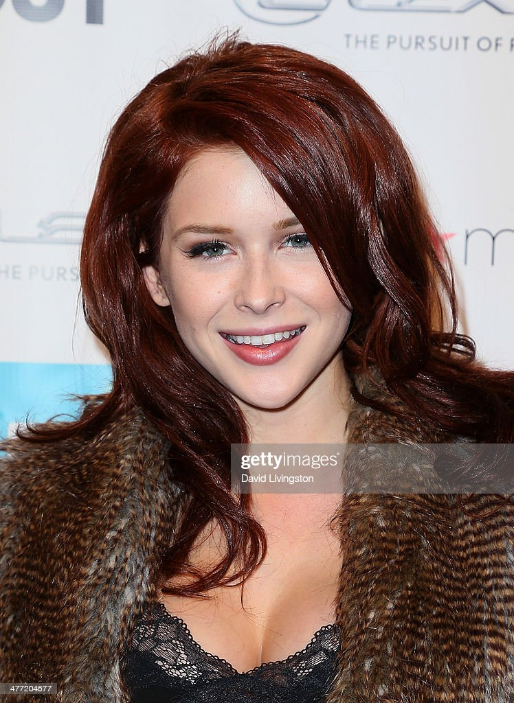 Actress <a gi-track='captionPersonalityLinkClicked' href=/galleries/search?phrase=Renee+Olstead&family=editorial&specificpeople=171817 ng-click='$event.stopPropagation()'>Renee Olstead</a> attends Out Magazine's Rock OUT event to kick off Los Angeles Fashion Week at Siren Studios on March 7, 2014 in Hollywood, California.