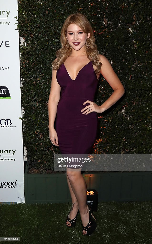 Actress Renee Olstead attends the Farm Sanctuary's 30th Anniversary Gala at the Beverly Wilshire Four Seasons Hotel on November 12, 2016 in Beverly Hills, California.