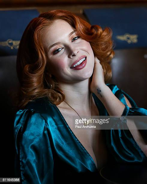 Actress Renee Olstead attends the 'Love Lounge' presented by Lambda Legal's Young Leadership Council at Now Boarding Bar on February 21 2016 in West...