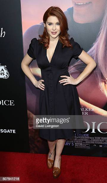 Actress Renee Olstead attends the premiere of Lionsgate's 'The Choice' at ArcLight Cinemas on February 1 2016 in Hollywood California