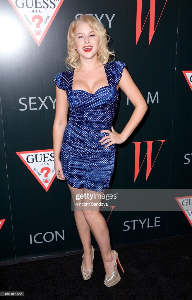 Actress Renee Olstead attends W Magazine and Guess celebrating 30 years of fashion and film and the next generation of style icons at Laurel Hardware on January 8, 2013 in West Hollywood, California.