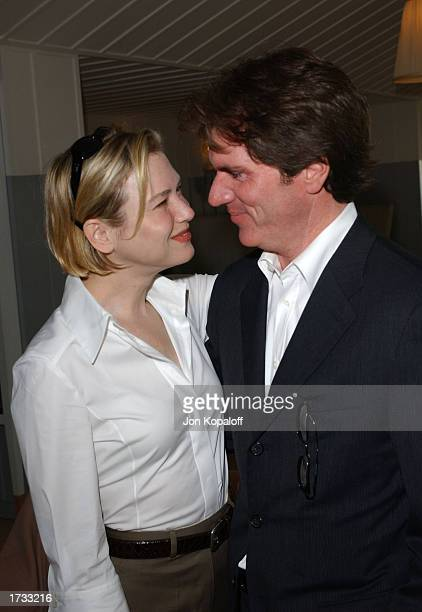 Actress Renee Zellweger and director Rob Marshall attend 'The Brunch Honoring Chicago Director Rob Marshall' at Ian Schrager's Mondrian Hotel on...