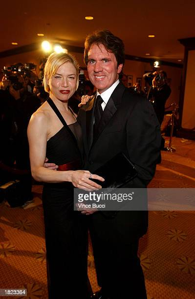 Actress Renee Zellweger and director Rob Marshall mingle at the 55th Annual Directors Guild Awards at the Century Plaza Hotel on March 1 2003 in Los...