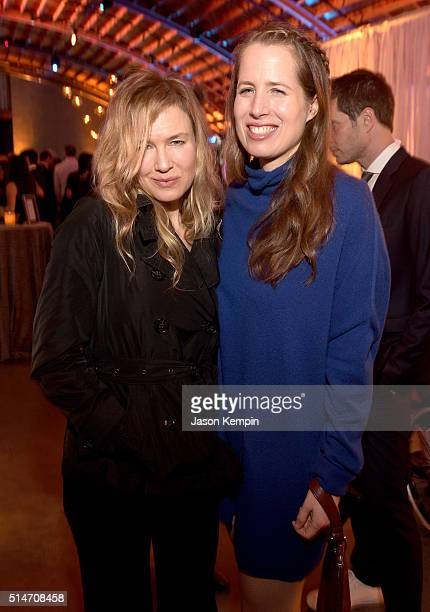 Actress Renee Zellweger and screenwriter Kristin Gore attend the 20th Annual Los Angeles Gala Dinner hosted by Conservation International on March 10...
