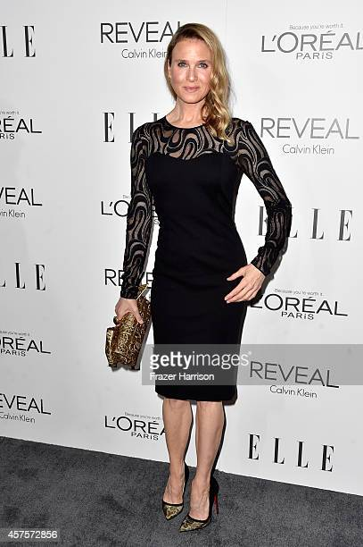 Actress Renee Zellweger arrives at ELLE's 21st Annual Women In Hollywood at Four Seasons Hotel Los Angeles at Beverly Hills on October 20 2014 in...