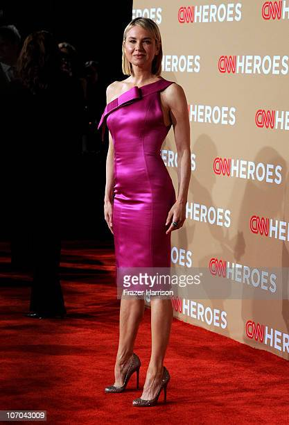 Actress Renee Zellweger arrives at the 2010 CNN Heroes An AllStar Tribute held at The Shrine Auditorium on November 20 2010 in Los Angeles California