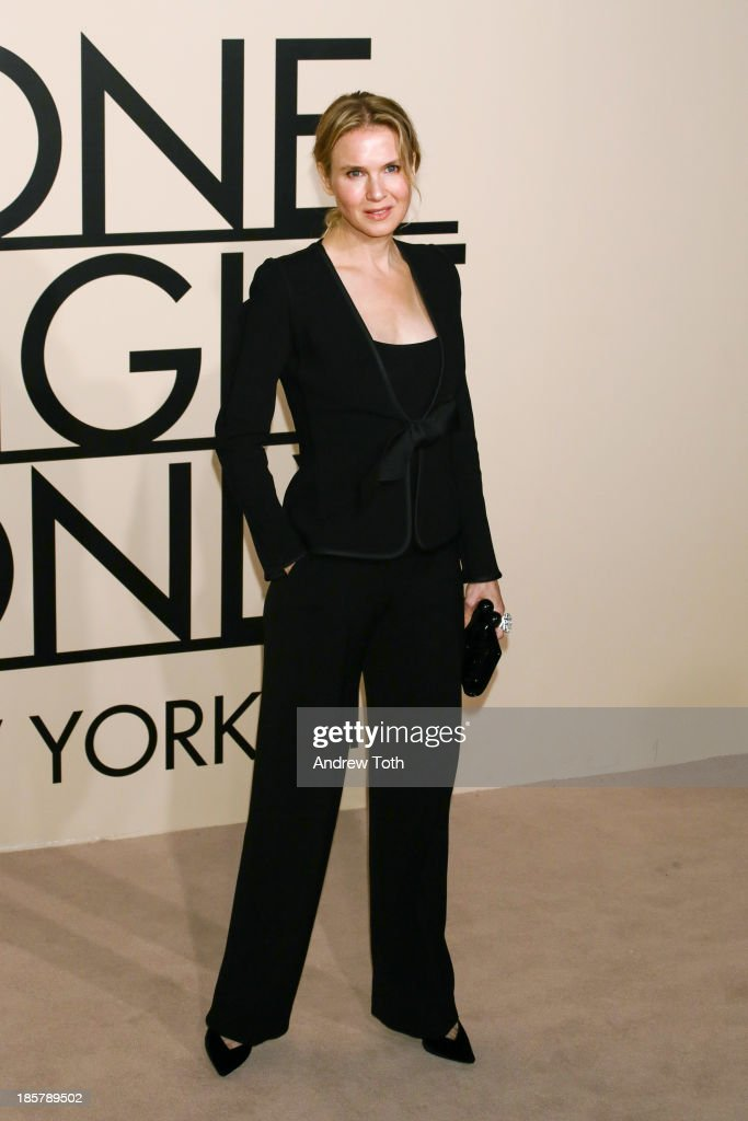 Actress Renee Zellweger attends Giorgio Armani - One Night Only New York at SuperPier on October 24, 2013 in New York City.