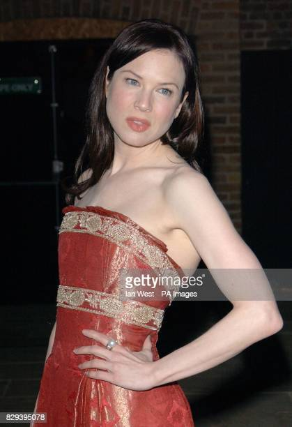 Actress Renee Zellweger attends the afterparty for her latest film Bridget Jones The Edge Of Reason held at the Tobacco Dock in east London