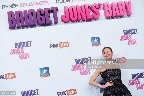 Actress Renee Zellweger attends the 'Bridget Jones' Baby' premiere at Kinepolis Cinema on September 9 2016 in Madrid Spain