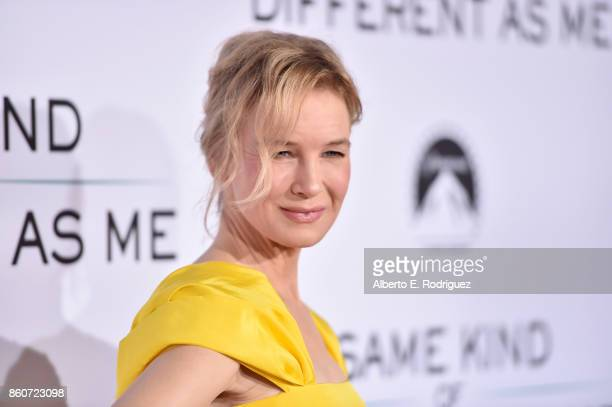 Actress Renee Zellweger attends the premiere of Paramount Pictures and Pure Film Entertainment's 'Same Kind Of Different As Me' at Westwood Village...
