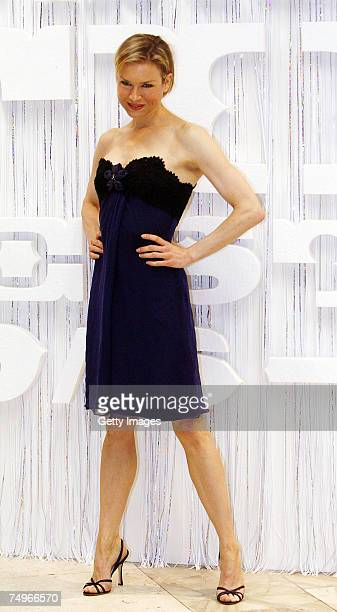 US actress Renee Zellweger poses at the Miss Potter screening during the 42nd Karlovy Vary International Film Festival June 30 in Karlovy Vary Czech...