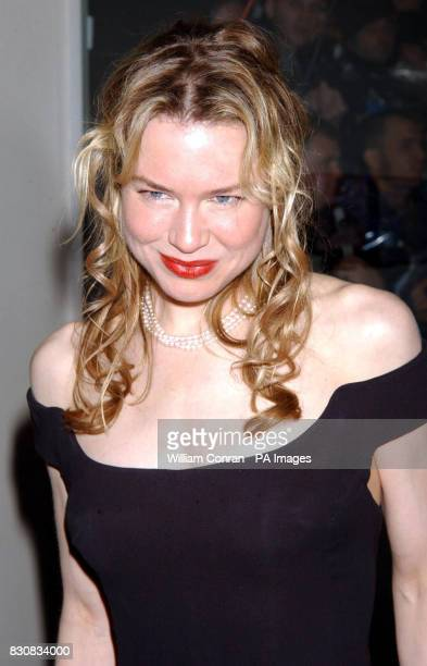 Actress Renee Zellweger star of 'Bridget Jones' Diary' arrives for the Orange British Academy Film Awards at the Odeon cinema in London's Leicester...