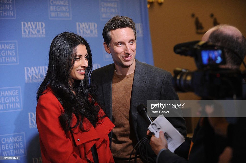 Actress Reshma Shetty(L) and Ben Shenkman attend An Amazing Night Of Comedy: A David Lynch Foundation Benefit For Veterans With PTSD at New York City Center on April 30, 2016 in New York City.