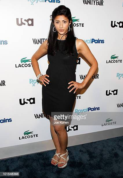 Actress Reshma Shetty arrives at the USA Network and Vanity Fair 'Royal Pains' Season Two kick off event at Lacoste Fifth Avenue Boutique on June 1...