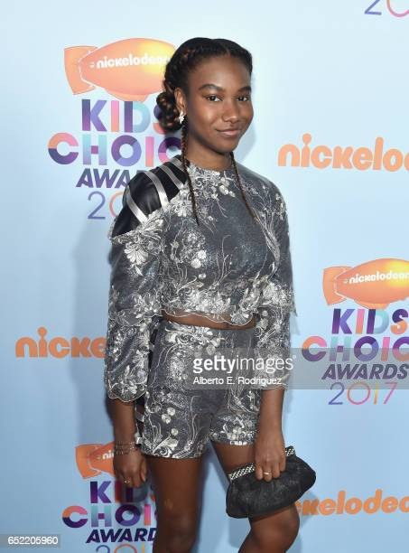 Actress Reyia Downs at Nickelodeon's 2017 Kids' Choice Awards at USC Galen Center on March 11 2017 in Los Angeles California