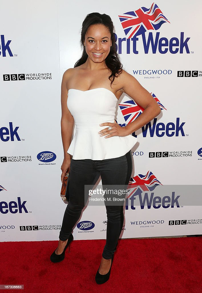 Actress Rhea Bailey attends the launch of the Seventh Annual Britweek Festival 'A Salute to Old Hollywood' on April 23, 2013 in Los Angeles, California.