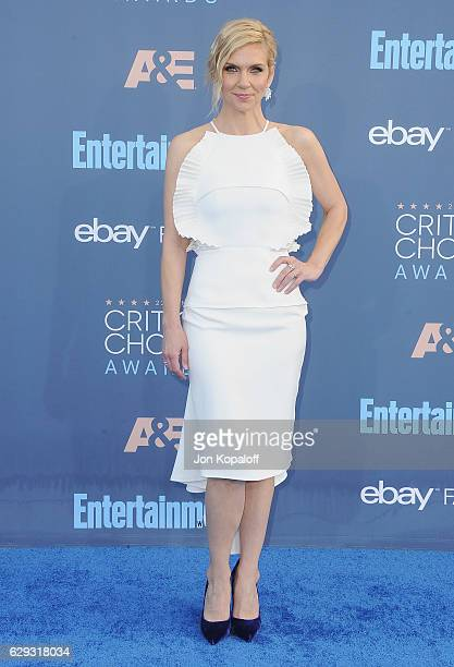 Actress Rhea Seehorn arrives at The 22nd Annual Critics' Choice Awards at Barker Hangar on December 11 2016 in Santa Monica California