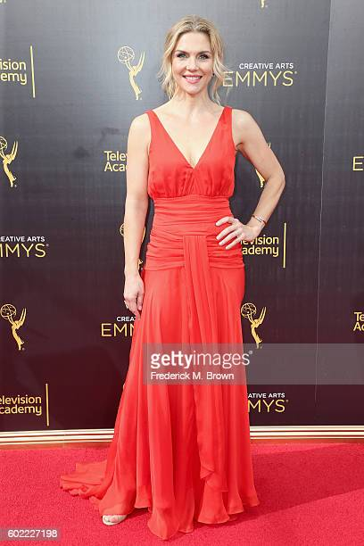 Actress Rhea Seehorn attends the 2016 Creative Arts Emmy Awards at Microsoft Theater on September 10 2016 in Los Angeles California