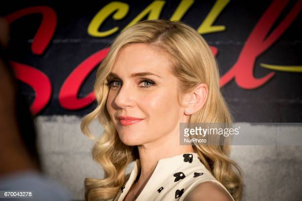 Actress Rhea Seehorn attends the 'Better call Saul' photocall at Telefonica flagship store on April 18 2017 in Madrid Spain