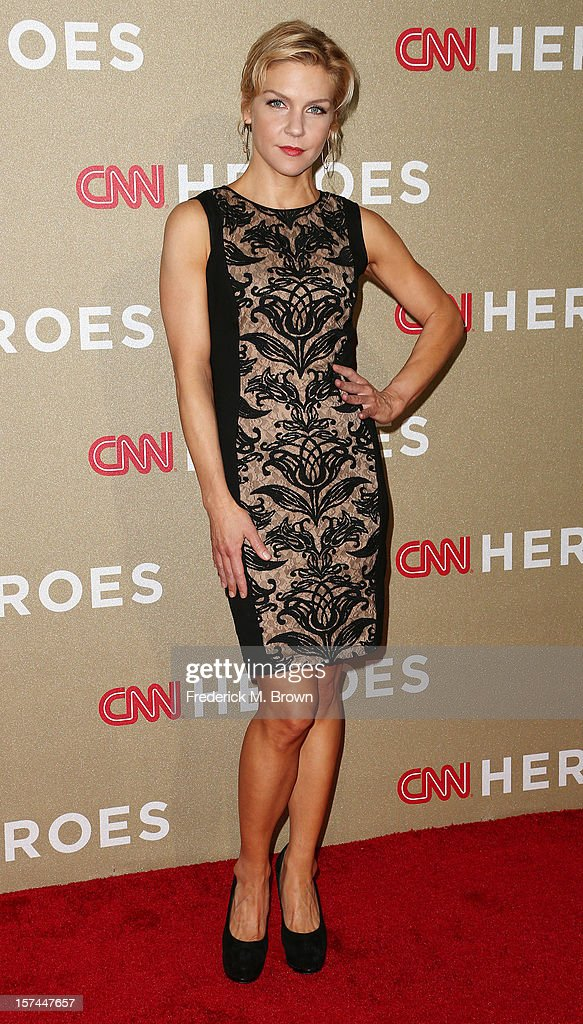 Actress Rhea Seehorn attends the CNN Heroes: An All Star Tribute at The Shrine Auditorium on December 2, 2012 in Los Angeles, California.