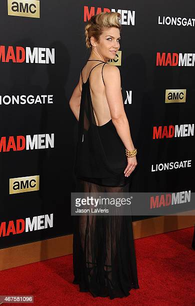 Actress Rhea Seehorn attends the 'Mad Men' Black Red Ball at Dorothy Chandler Pavilion on March 25 2015 in Los Angeles California