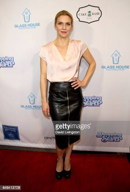 Actress Rhea Seehorn attends the premiere of Glass House Distributions' 'Dropping The Soap' at Writers Guild Theater on March 7 2017 in Beverly Hills...