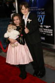 Actress Rhiannon Leigh Wrynand actor Chris O'Neil attend the film premiere for 'The Last Mimzy' at the Mann Village Theatre on March 20 2007 in Los...