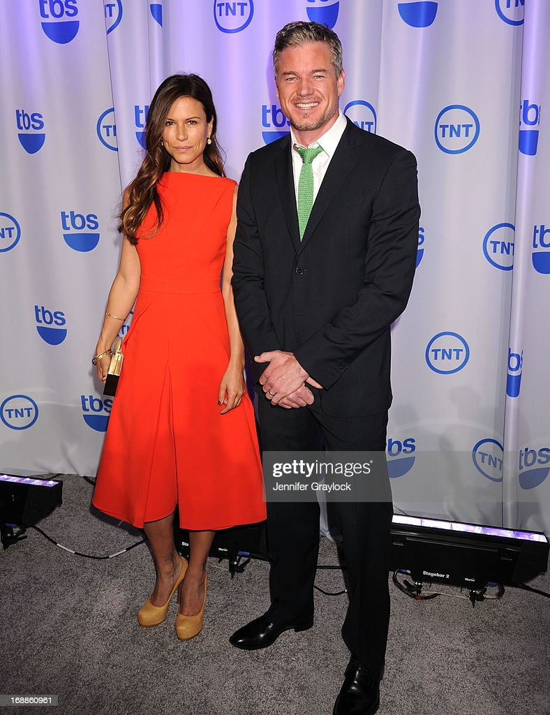 Actress Rhona Mitra and Actor Eric Dane attends the 2013 TNT/TBS Upfront presentation at Hammerstein Ballroom on May 15, 2013 in New York City.