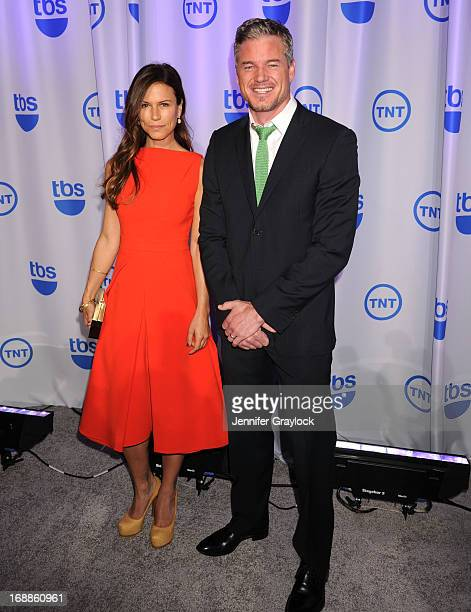 Actress Rhona Mitra and Actor Eric Dane attends the 2013 TNT/TBS Upfront presentation at Hammerstein Ballroom on May 15 2013 in New York City
