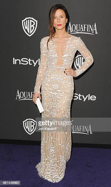 Actress Rhona Mitra arrives at the 16th Annual Warner Bros And InStyle PostGolden Globe Party at The Beverly Hilton Hotel on January 11 2015 in...