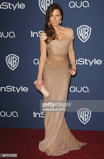 Actress Rhona Mitra arrives at the 2014 InStyle And Warner Bros 71st Annual Golden Globe Awards PostParty at The Beverly Hilton Hotel on January 12...