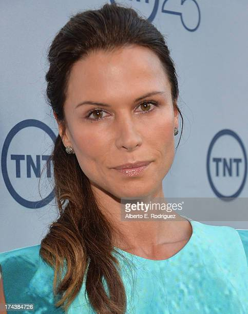 Actress Rhona Mitra arrives to TNT's 25th Anniversary Party at The Beverly Hilton Hotel on July 24 2013 in Beverly Hills California
