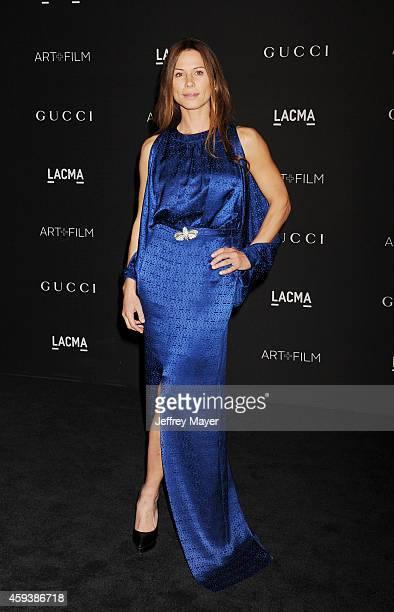 Actress Rhona Mitra attends the 2014 LACMA Art Film Gala honoring Barbara Kruger and Quentin Tarantino presented by Gucci at LACMA on November 1 2014...