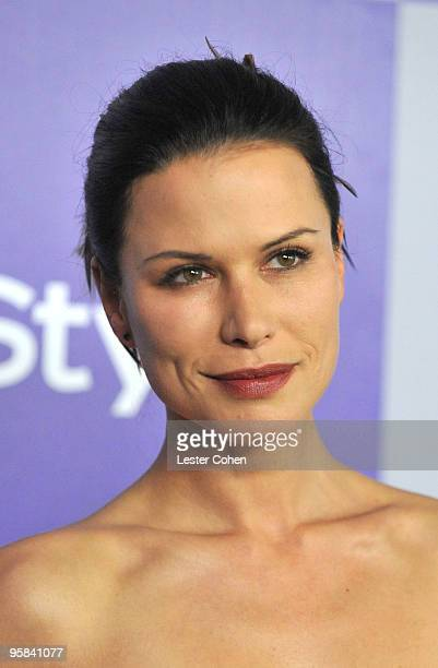 Actress Rhona Mitra attends the InStyle and Warner Bros 67th Annual Golden Globes post party held at the Oasis Courtyard at The Beverly Hilton Hotel...